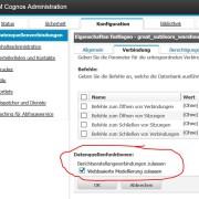 Cognos Analytics Webbasierete Modellierung zulassen
