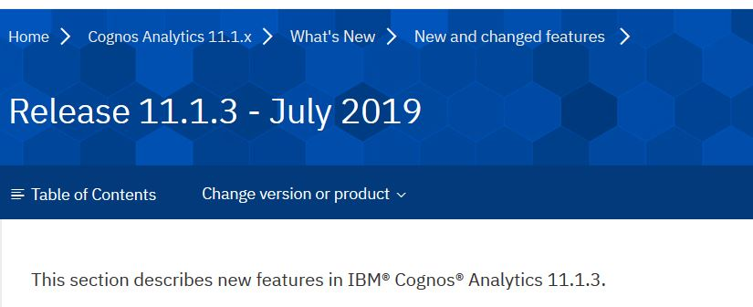 Cognos Analytics 11.1.3 Download verfügbar