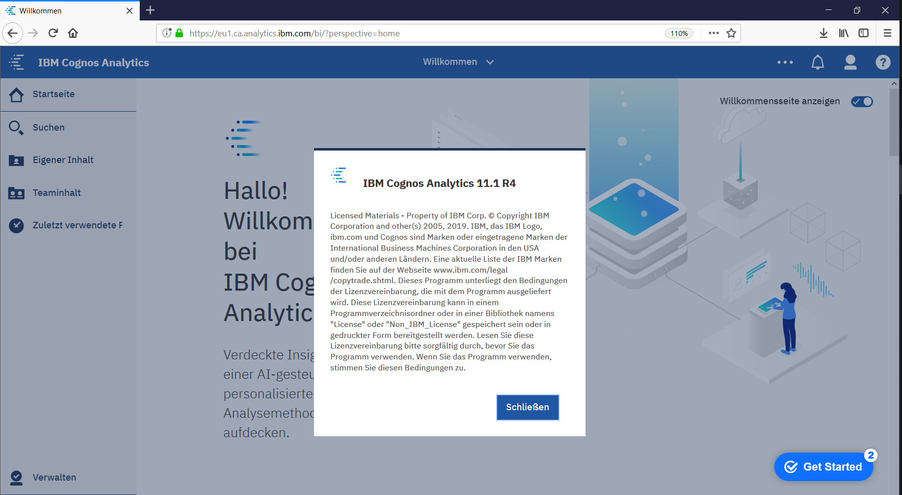Cognos Analytics on Cloud 11.1.4 update