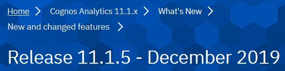 Download Cognos Analytics 11.1.5 verfügbar